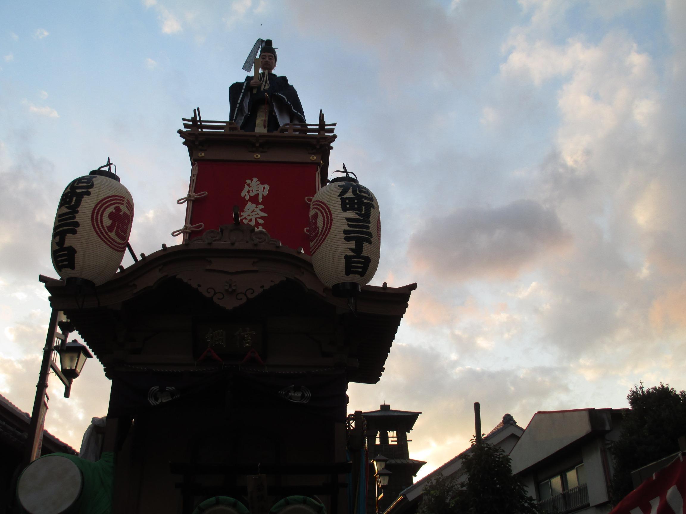 平成24年度川越祭り時の鐘と信綱の山車