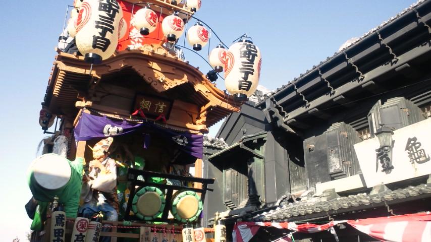 平成24年度川越祭り亀屋前にて